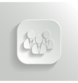 User group network icon - white app button vector image