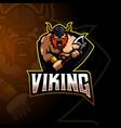 viking mascot logo vector image
