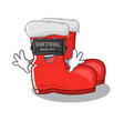 virtual reality santa boots mascot isolated the vector image vector image