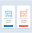 website page interface web online blue and red vector image