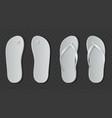 white flip flops sandals realistic beach rubber vector image
