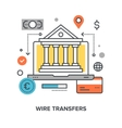 wire transfers concept vector image vector image