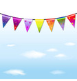 Rainbow Bunting Banner Garland With Sky vector image