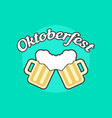 oktoberfest icon with toby jugs vector image