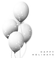 White Balloons background for holiday cards vector image
