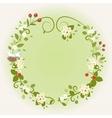 Wreath Frame Card Vintage Wooden sign Floral Bird vector image