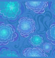 Abstract blu flowers