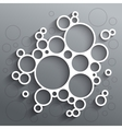 Abstract infographics white circles with shadow on vector image