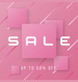 abstract stylish sale banner design vector image