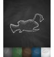 angler fish icon vector image