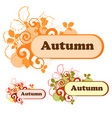autumn logo for the company in various color vector image vector image