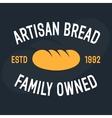 bakery vintage design element logo badge vector image