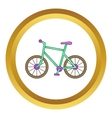 Bicycle icon vector image vector image