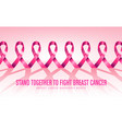 breast cancer awareness campaign card vector image