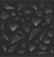 broken glass pieces vector image