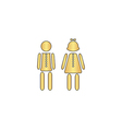 brother and sister computer symbol vector image vector image