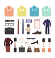 business accessories and elements vector image