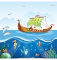 cartoon image water world with merchant vector image