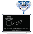 cat blackboard vector image vector image
