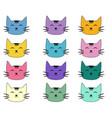 cats set cute doodle sketch character handmade vector image