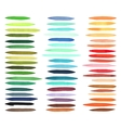 Color stripes brushes drawn with japan markers vector image vector image