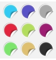 Colorful nine blank stickers set Badge collection vector image vector image
