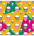 colorful skulls print skull seamless pattern hand vector image vector image