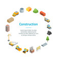 construction multistory building concept banner vector image