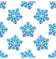 crystal and snowflakes seamless pattern background vector image vector image