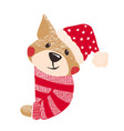 cute dog symbol of year 2018 vector image