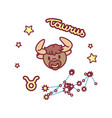 cute zodiac sign vector image