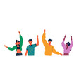 diverse colorful young people isolated vector image vector image