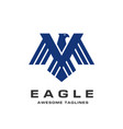 eagle head logo template vector image vector image