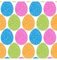 Easter eggs flowers background vector image vector image