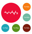 equalizer signal icons circle set vector image vector image