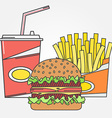 Fast food icon icon colafries and burger For web vector image vector image