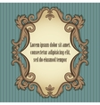 Floral vintage frame in beige and brown colors vector image vector image
