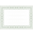 Frame for certificate vector image vector image