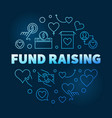 fund raising round blue outline vector image vector image