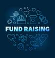 fund raising round blue outline vector image