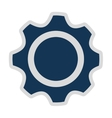 gears isolated icon design vector image vector image