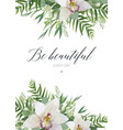 greeting card postcard poster banner design with vector image vector image