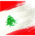 grunge background in colors of lebanese flag vector image vector image