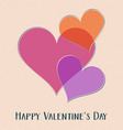 Happy valentine day retro card vector image