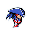 highwayman wearing union jack bandana side mascot vector image vector image