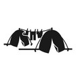 homeless tent camp icon simple style vector image vector image
