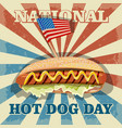 hot dog day vector image vector image