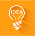 idea bulbs design over orange background with vector image