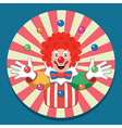 juggling circus clown vector image