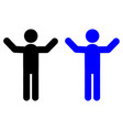 man with a raised hand icon vector image vector image